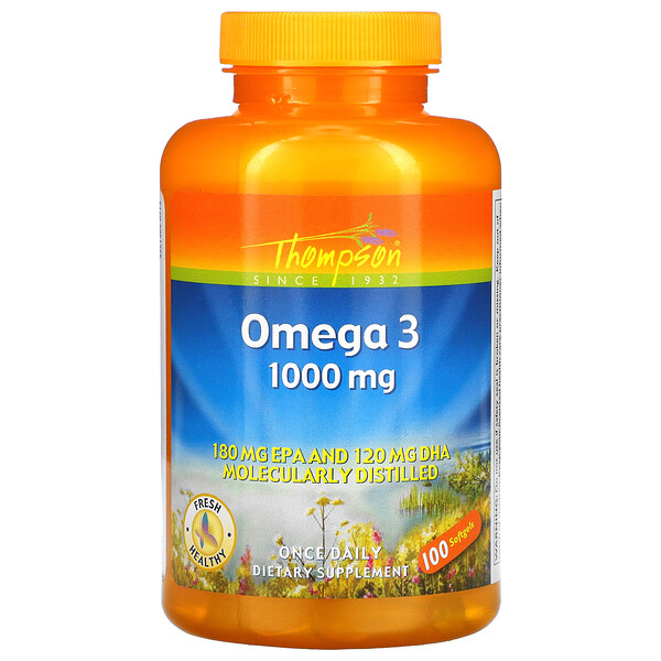 Omega 3, 1000 mg, 100 Softgels