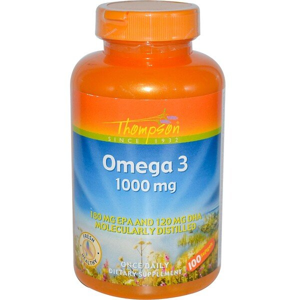Thompson, Omega 3, 1000 mg, 100 Gelatinekapseln