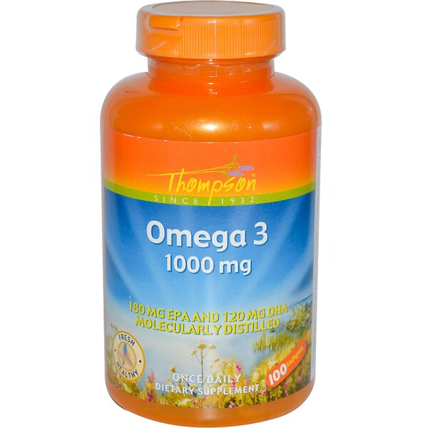Omega 3, 1000 mg, 100 Softgels