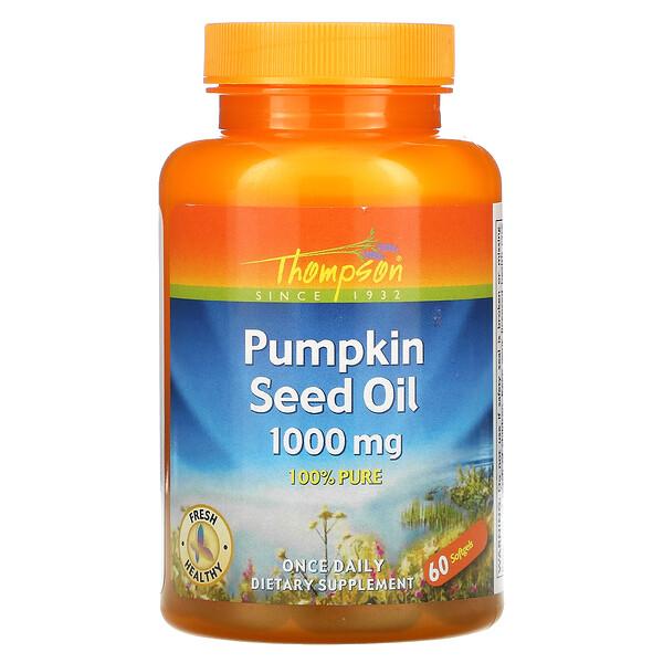 Pumpkin Seed Oil, 1000 mg, 60 Softgels