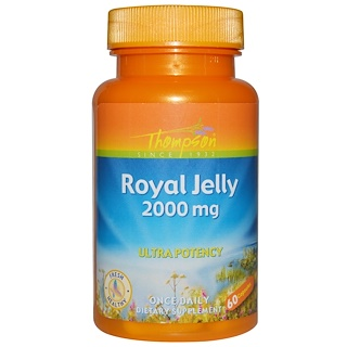 Thompson, Royal Jelly, 2000 mg, 60 Capsules