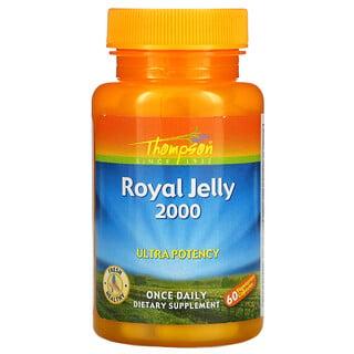 Thompson, Royal Jelly, High Potency, Gelée Royale, hohe Wirksamkeit, 2,000mg, 60pflanzliche Kapseln