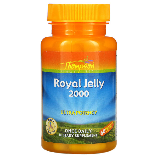 Thompson, Royal Jelly, Ultra Potency, 2,000 mg, 60 Vegetarian Capsules