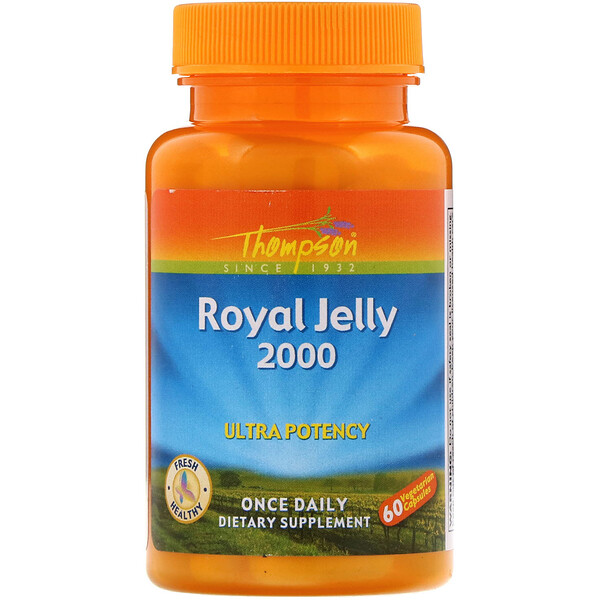 Thompson, Royal Jelly, 2,000 mg, 60 Vegetarian Capsules