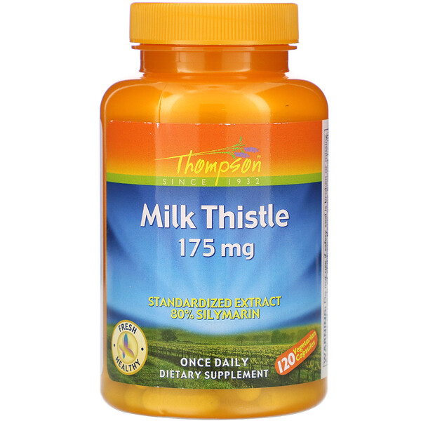 Milk Thistle, 175 mg, 120 Vegetarian Capsules