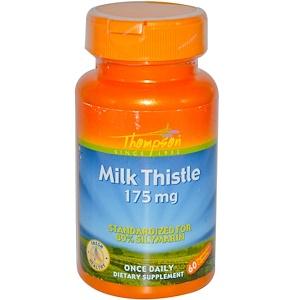 Томпсон, Milk Thistle, 175 mg, 60 Veggie Caps отзывы