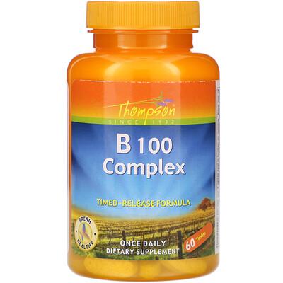 Купить Thompson комплекс витаминов группыВ, 100таблеток