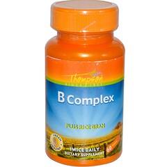 Thompson, B Complex, Plus Rice Bran, 60 Tablets