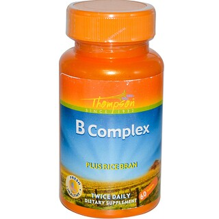 Thompson, B Complex, Plus Rice Bran, 60 Tablets