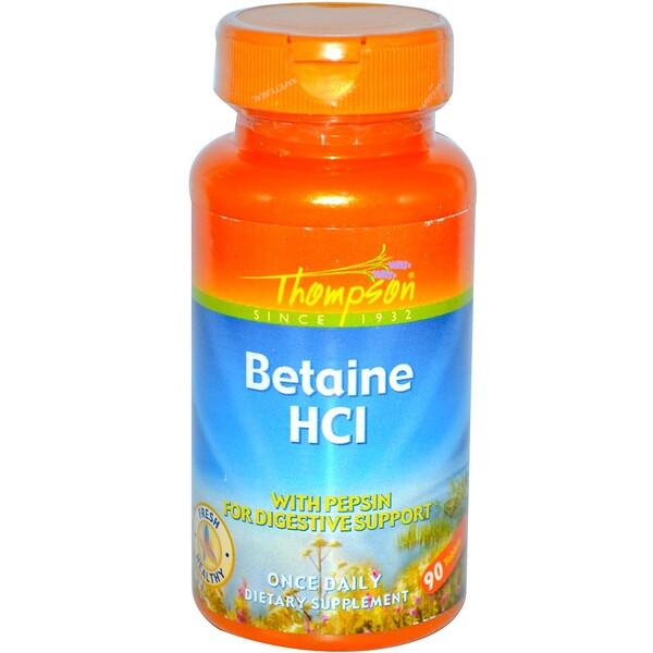 Betaine HCl, 90 Tablets