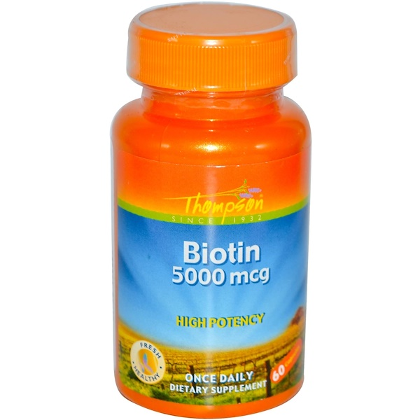 Thompson, Biotin, 5000 mcg, 60 Capsules (Discontinued Item)