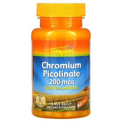 Thompson Пиколинат хрома, 200 мкг, 60 таблеток