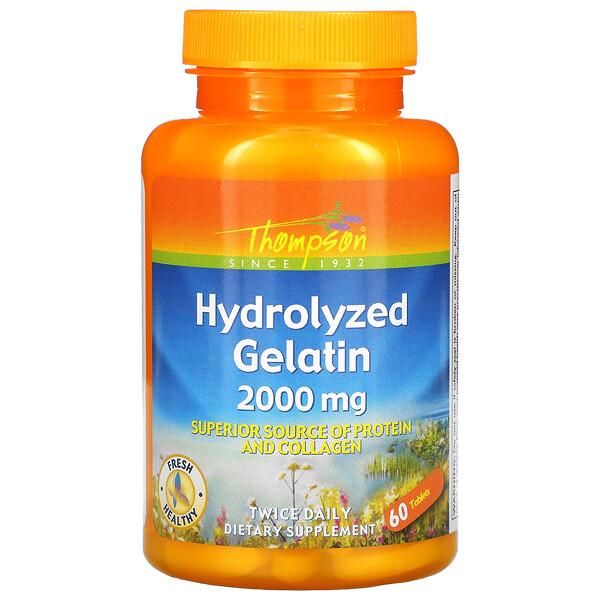 Гидролизованный желатин, 2000 мг, 60 таблеток