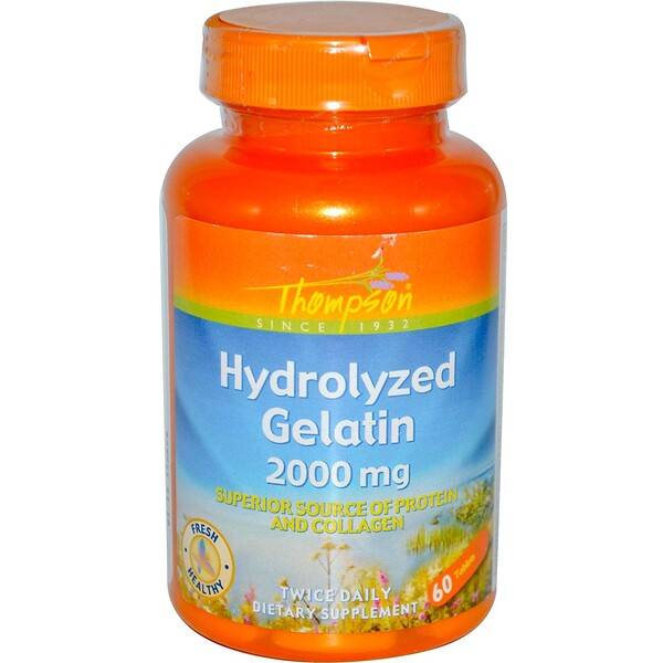 Thompson, Hydrolyzed Gelatin, 2000 mg, 60 Tablets