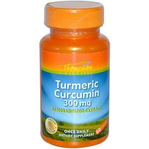 Томпсон, Turmeric Curcumin, 300 mg, 60 Capsules отзывы покупателей