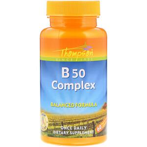 Томпсон, B50 Complex, 60 Capsules отзывы покупателей