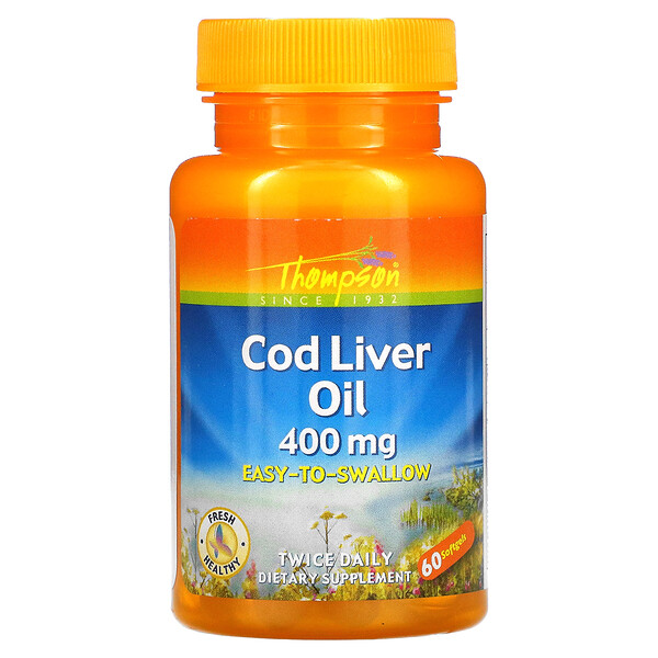 Cod Liver Oil, 400 mg, 60 Softgels