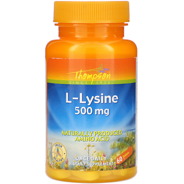 Thompson, L-Lysine, 500 mg , 60 Tablets