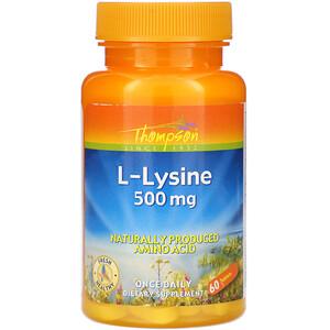 Томпсон, L-Lysine, 500 mg , 60 Tablets отзывы