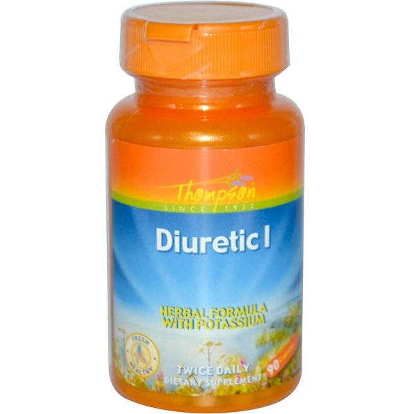 Thompson, Diuretic I, Herbal Formula with Potassium, 90 Capsules (Discontinued Item)