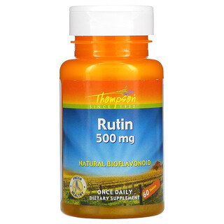 Thompson, Rutin, 500 mg, 60 Tablets