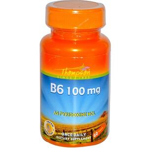 Томпсон, B6, 100 mg, 60 Tablets отзывы