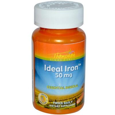 Thompson Идеальное железо, 50 мг, 60 таблеток