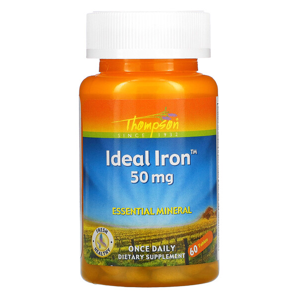 Ideal Iron, 50 mg, 60 Tablets