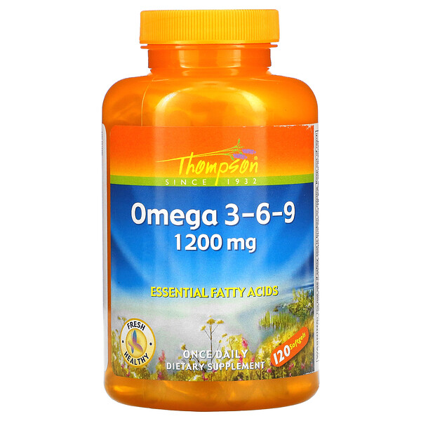 Omega 3-6-9, 1200 mg, 120 Softgels