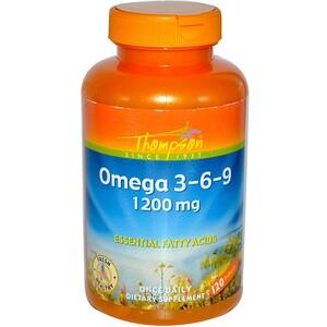 Томпсон, Omega 3-6-9, 1200 mg, 120 Softgels отзывы