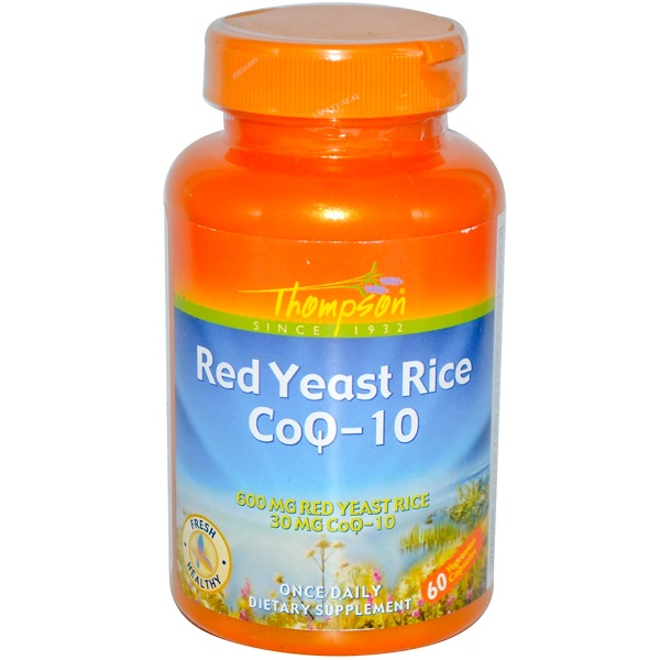 Thompson, Red Yeast Rice CoQ-10, 60 Veggie Caps (Discontinued Item)
