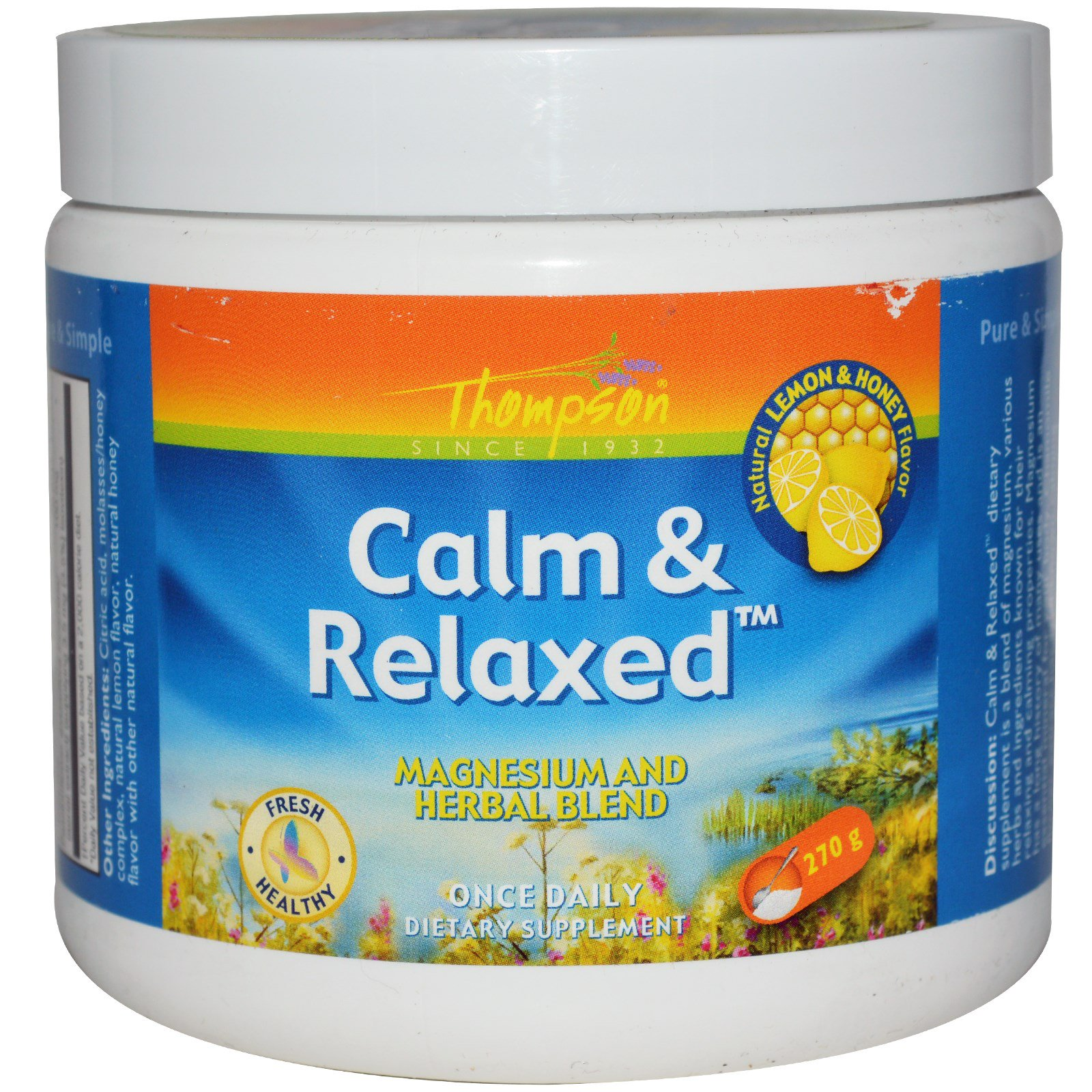 Thompson, Спокойствие и расслабление, вкус натурального лимона и меда, 270 г