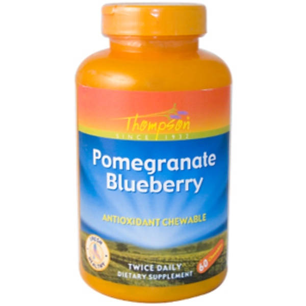 Thompson, Pomegranate Blueberry, Antioxidant Chewable, 60 Chewables (Discontinued Item)