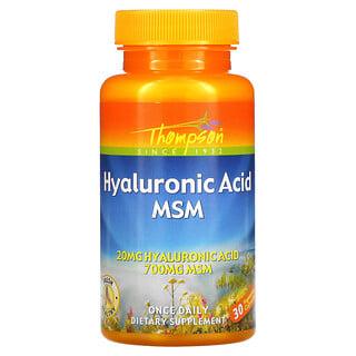 Thompson, Hyaluronic Acid MSM, 30 Vegetarian Capsules