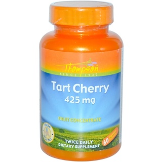 Thompson, Tart Cherry, 425 mg, 60 Veggie Caps