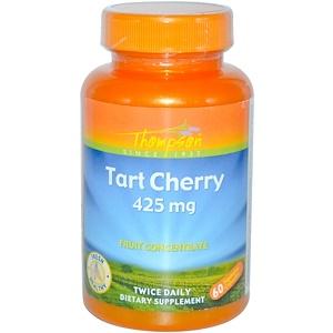 Томпсон, Tart Cherry, 425 mg, 60 Veggie Caps отзывы покупателей