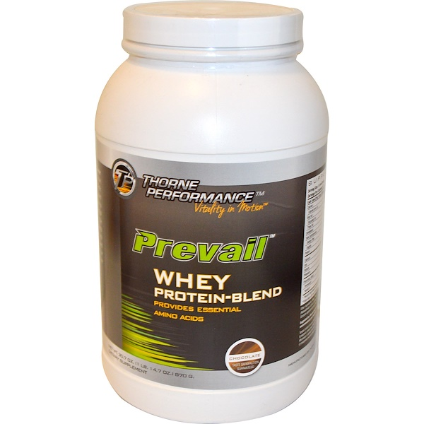 Thorne Performance, Prevail, Whey Protein-Blend, Chocolate, 30.7 oz (870 g) (Discontinued Item)