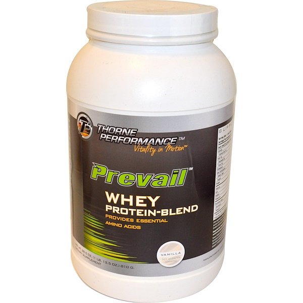 Thorne Performance, Prevail, Whey Protein-Blend, Vanilla, 28.5 oz (810 g) (Discontinued Item)