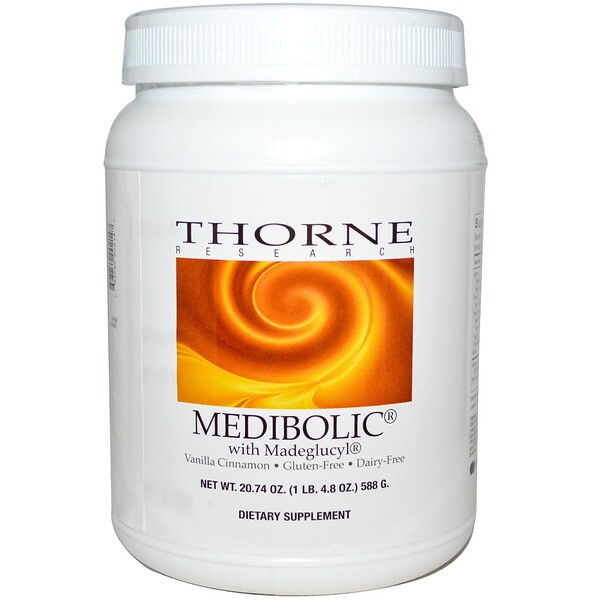 Thorne Research, Medibolic with Madeglucyl, Vanilla Cinnamon, 20.74 oz (588 g) (Discontinued Item)