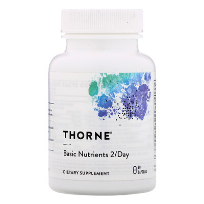 Купить Thorne Research Основные питательные вещества 2/Day, 60 капсул