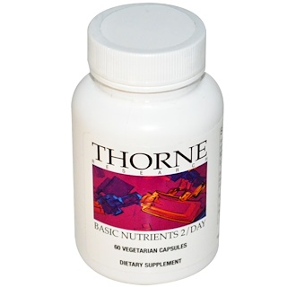 Thorne Research, Basic Nutrients 2/Day, 60 Vegetarian Capsules