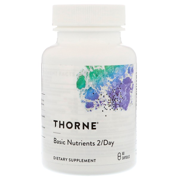 Thorne Research, Basic Nutrients 2/Day, NSF Certified for Sport, 60 Capsules