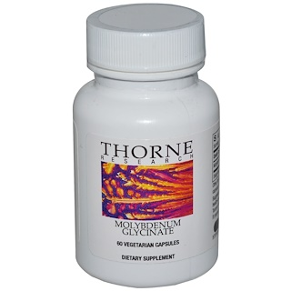Thorne Research, Molybdenum Glycinate, 60 Vegetarian Capsules