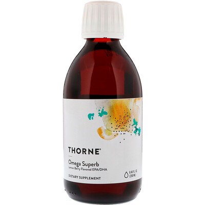 Thorne Research Omega Superb, Lemon Berry, 8.45 fl oz (250 ml)