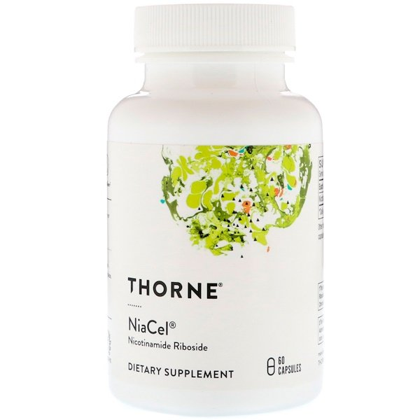 Thorne Research, Niacel, никотинамид рибозид, 60 капсул