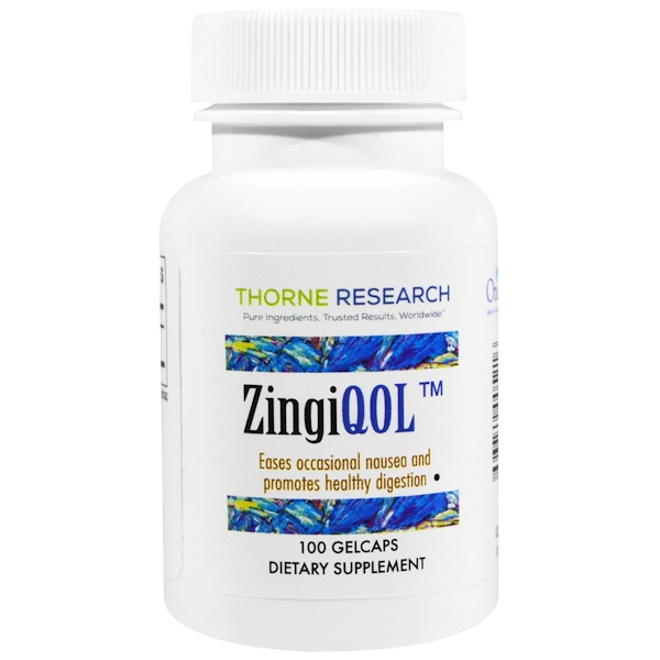 Thorne Research, ZingiQOL, 100 Gelcaps (Discontinued Item)