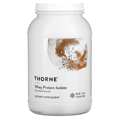 Thorne Research Whey Protein Isolate, Chocolate , 1.99 lb (906 g)