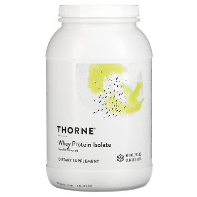 Thorne Research Whey Protein Isolate, Vanilla, 1.84 lb (837 g)
