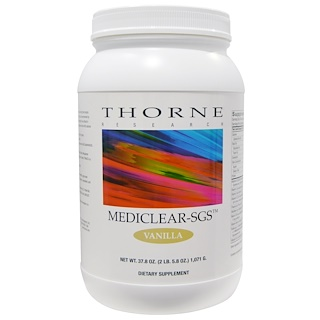 Thorne Research, Mediclear-SGS, Vanilla, 37.8 oz (1071 g)
