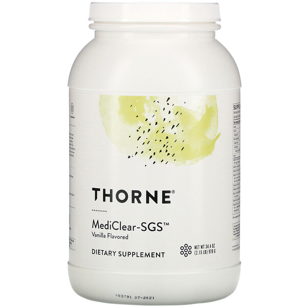 Thorne Research, MediClear-SGS, Vanilla Flavored, 34.4 oz (978 g)